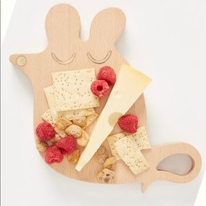Anthropologie Dining - Anthropologie Mouse Wood & Brass Cheese Board NWT